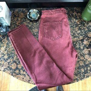 Burgundy forever 21 jeans